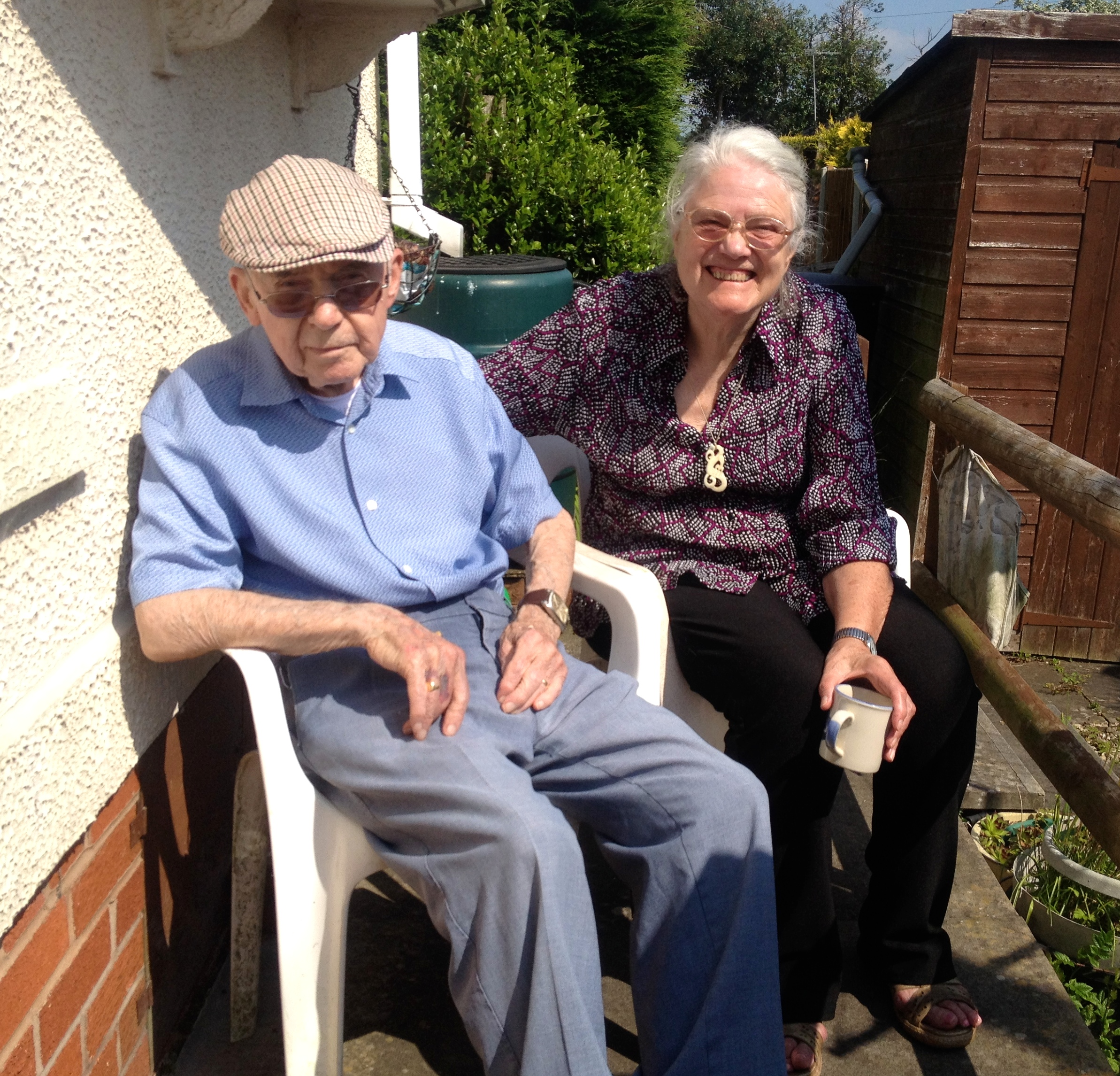 Dad and mum capture some glorious British sunshine