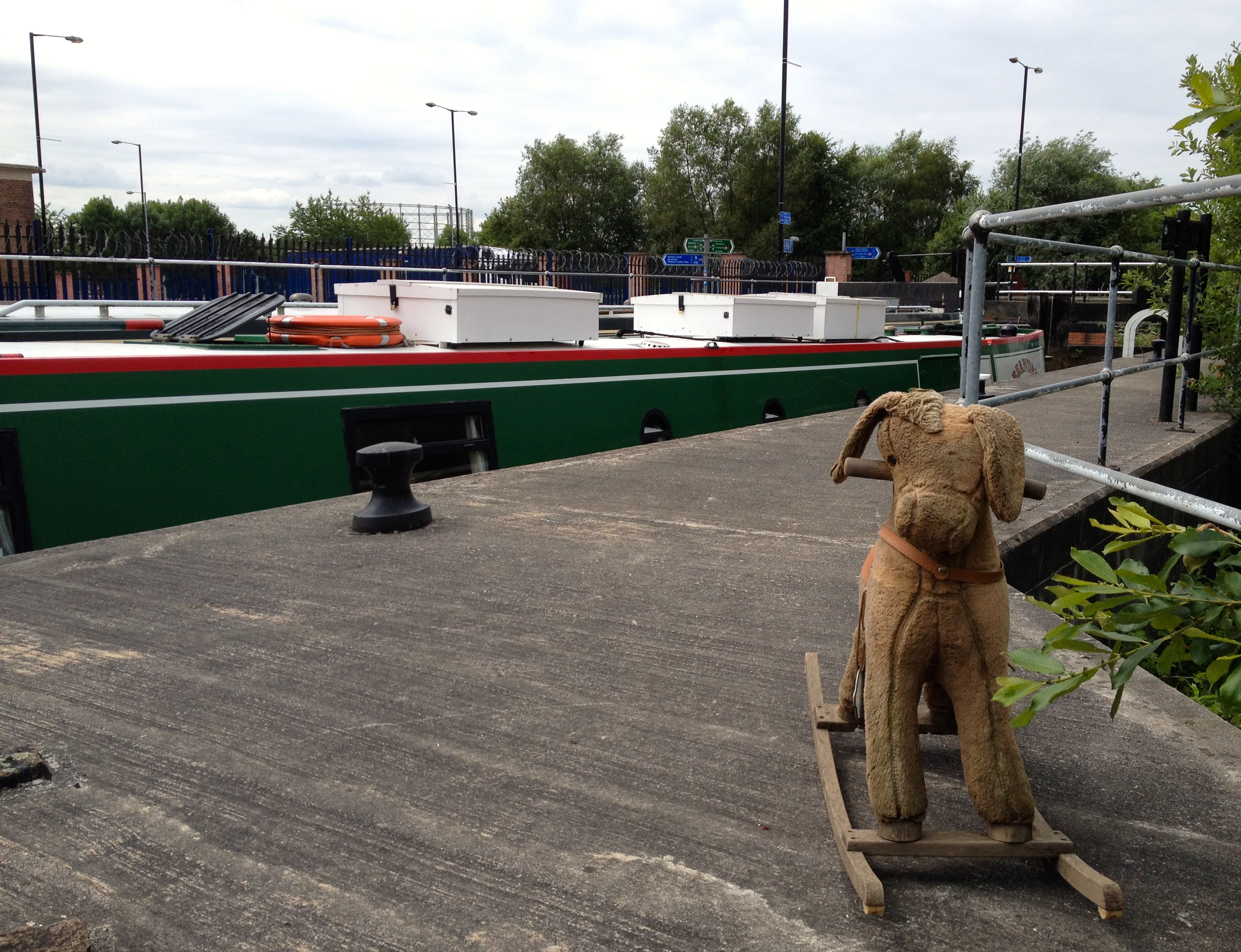 This chap was a sorry sight by the lock