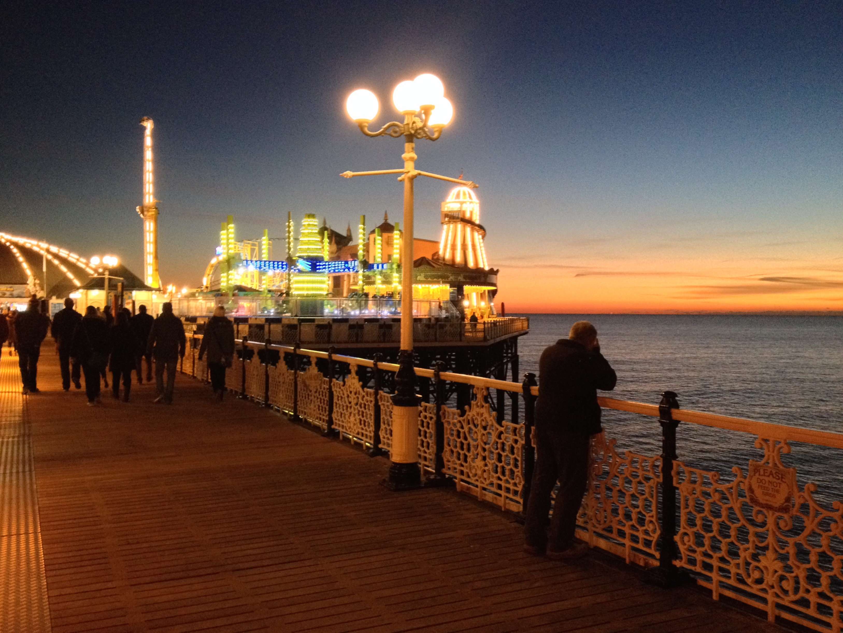 Brighton Pier illuminated