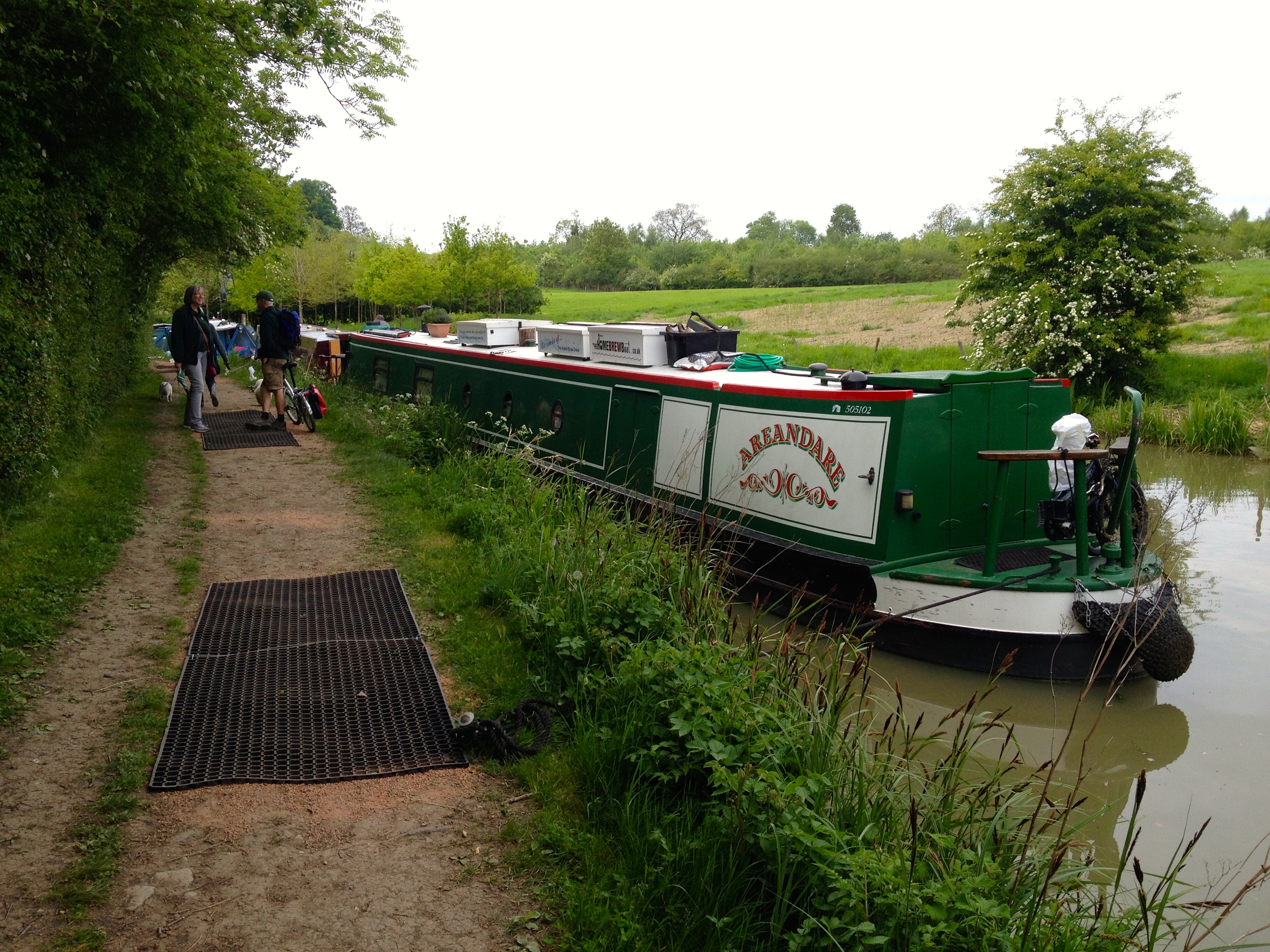 NB areandare moored at Crick Boat Show