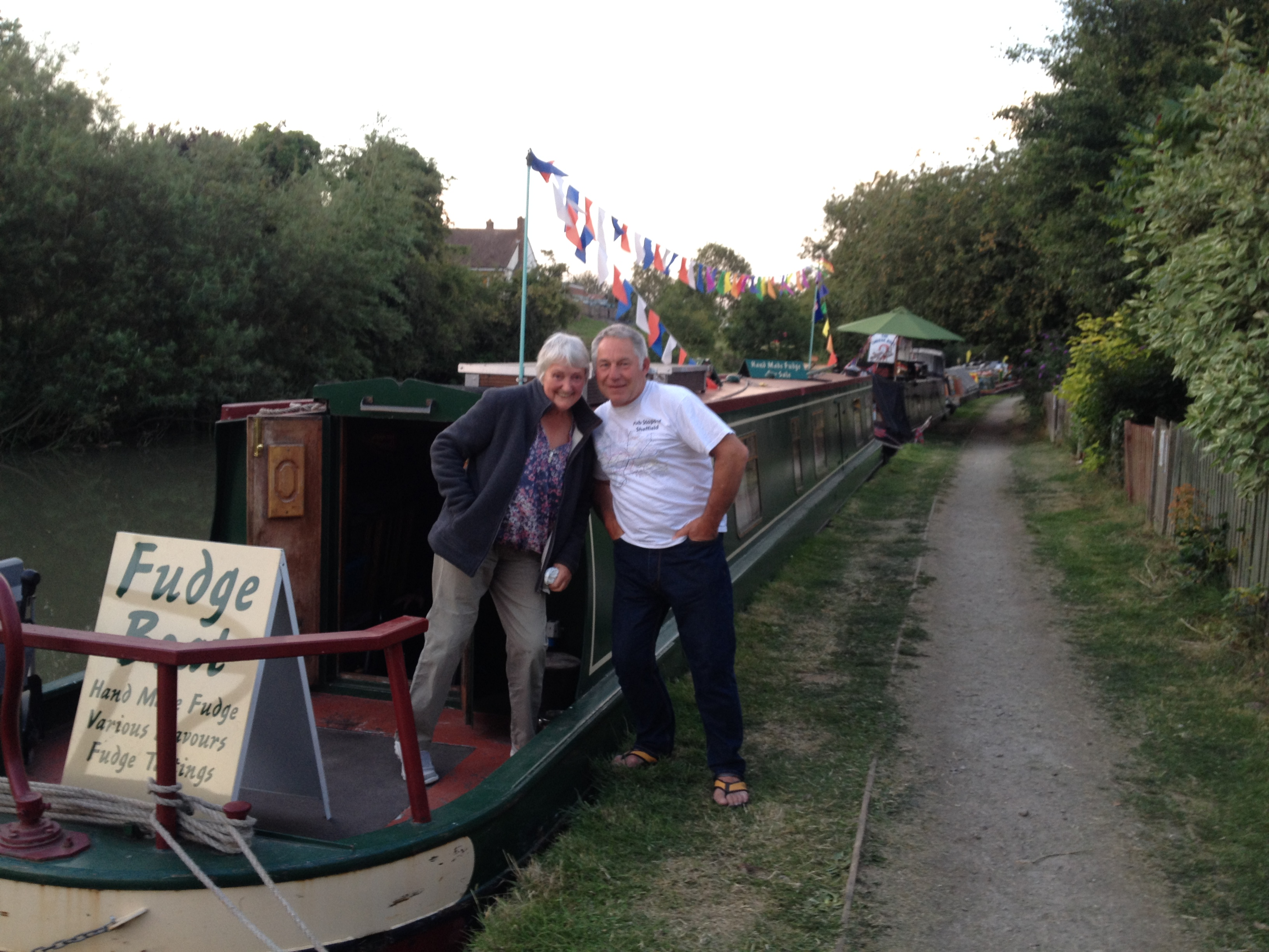 The Fudge Boat at Blisworth Canal Festival 2015