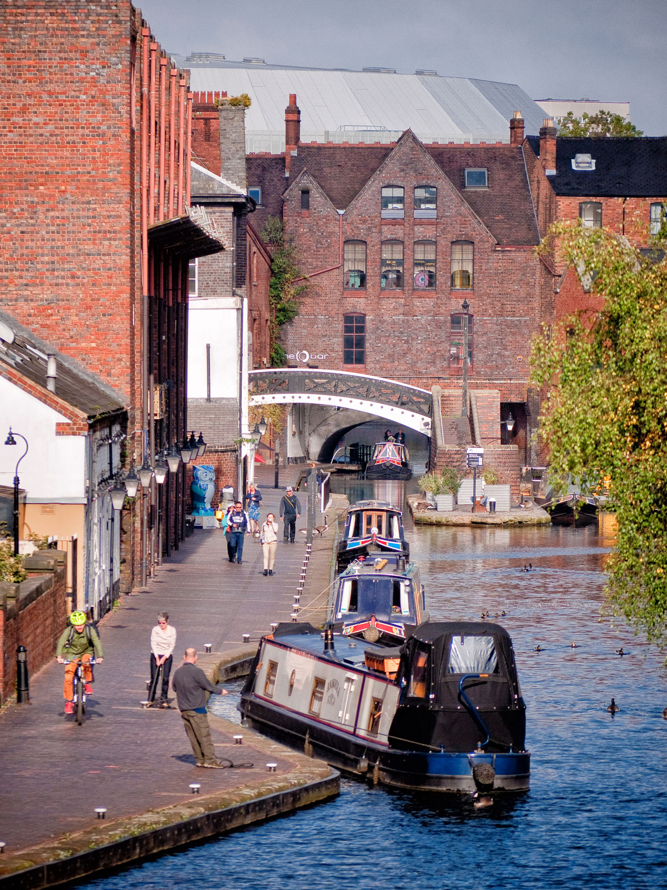 Gas Street Basin from The Mailbox (with the NIA in the background)
