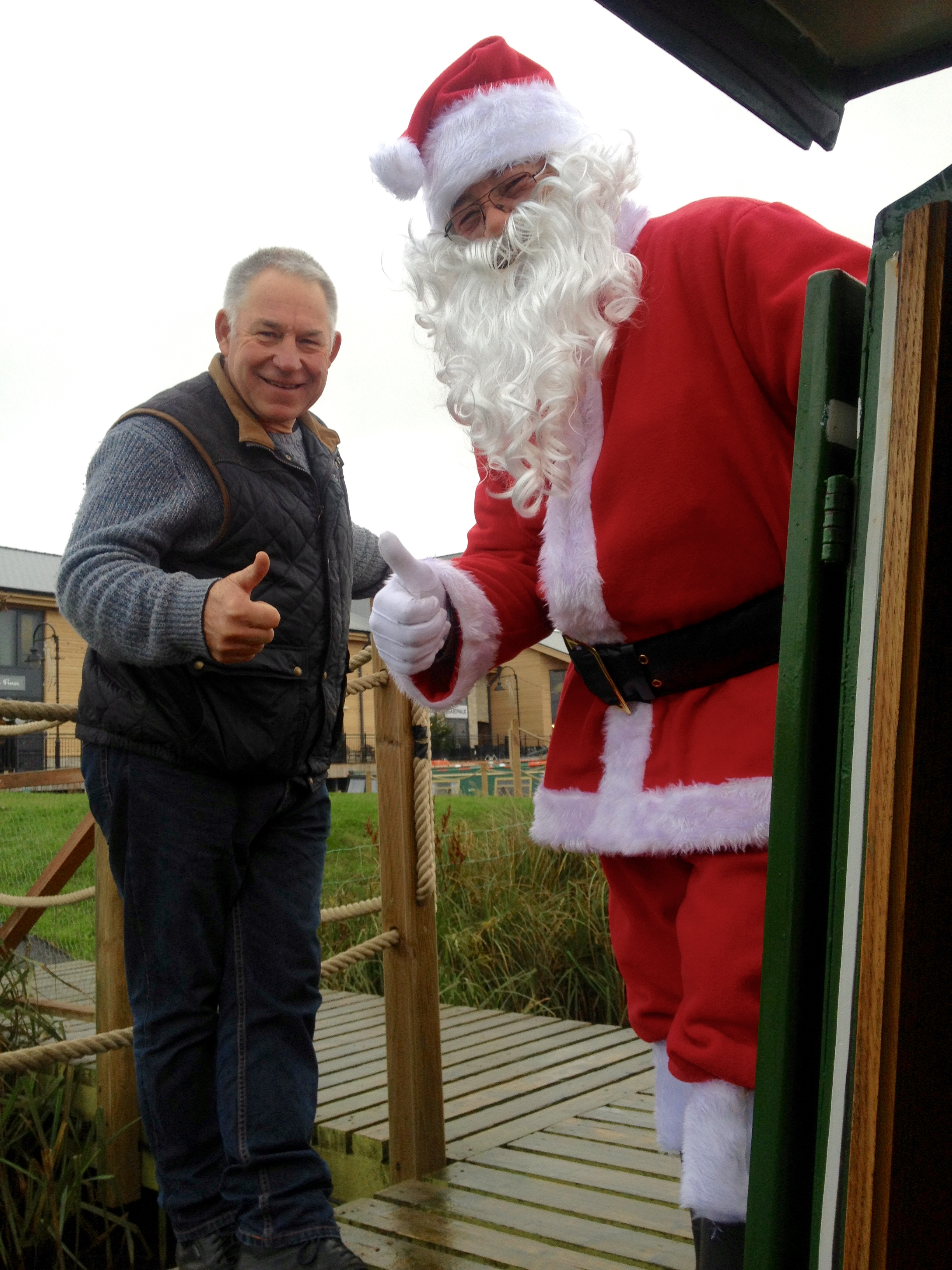 Santa and The Home Brew Boat