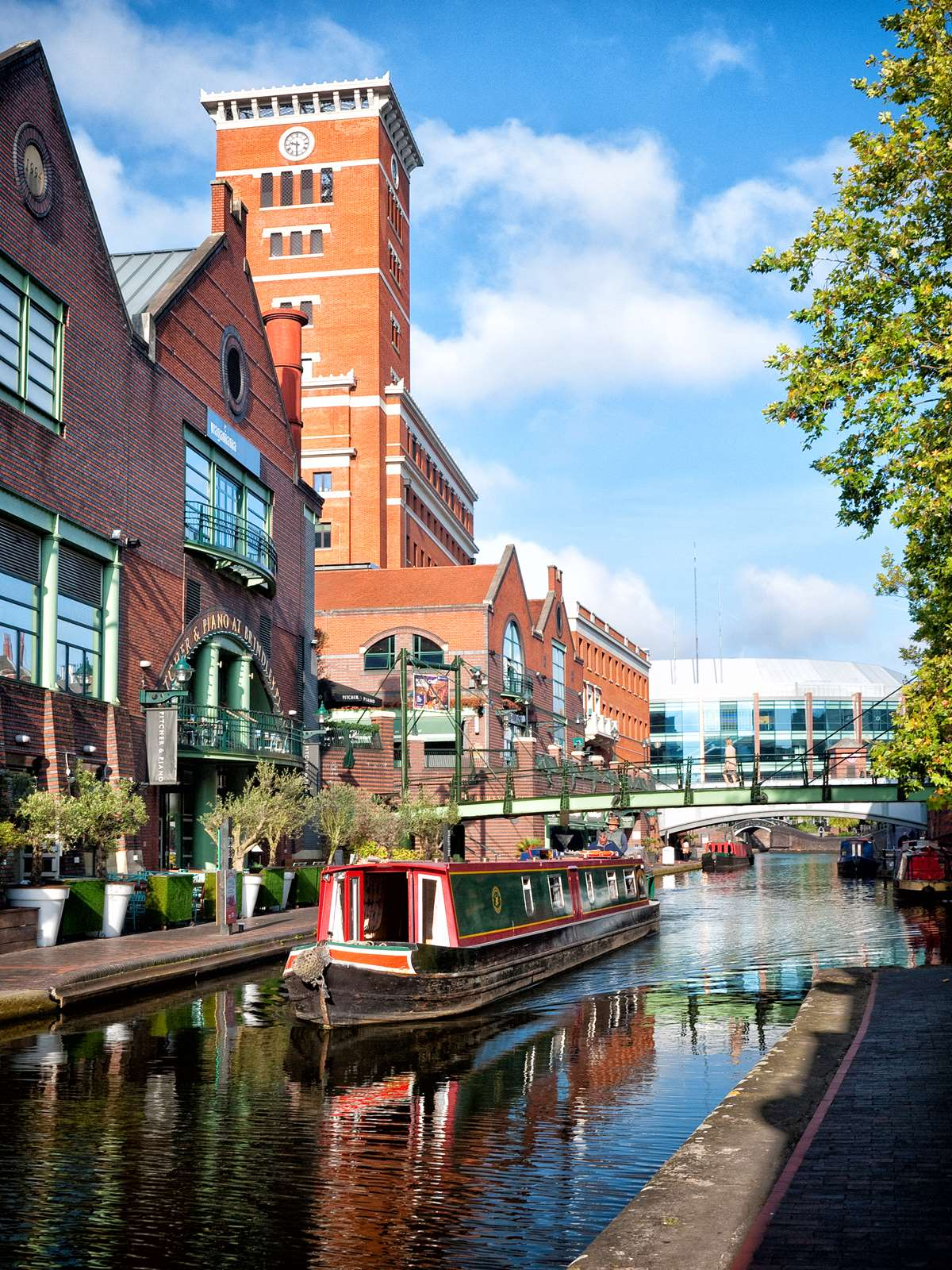 Back along Brindley Place towards the Barclaycard Arena.