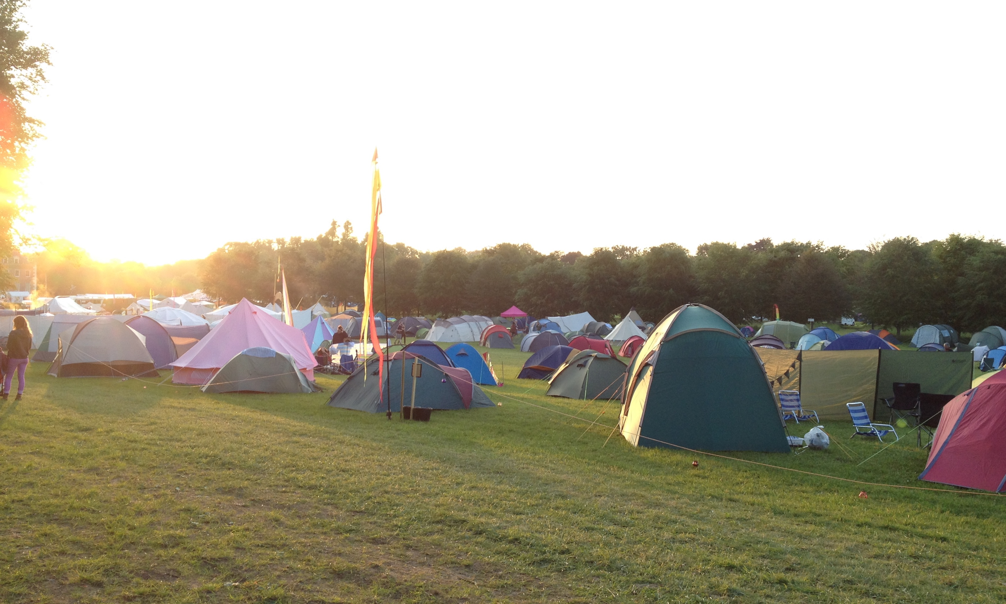 Camping at Colourfest 2016