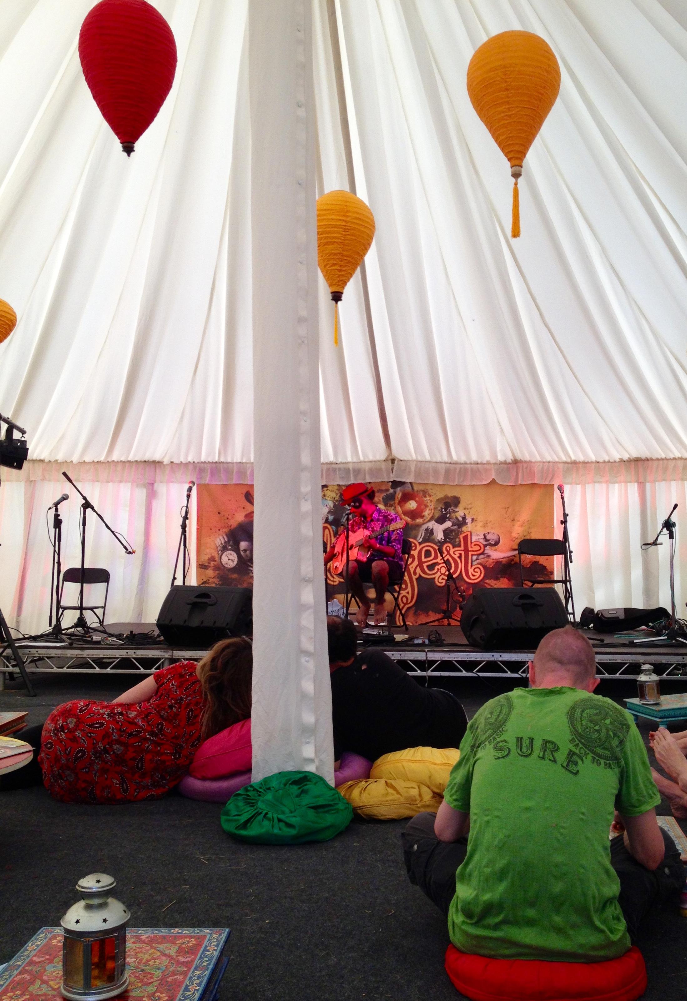 Colourfest cafe tent