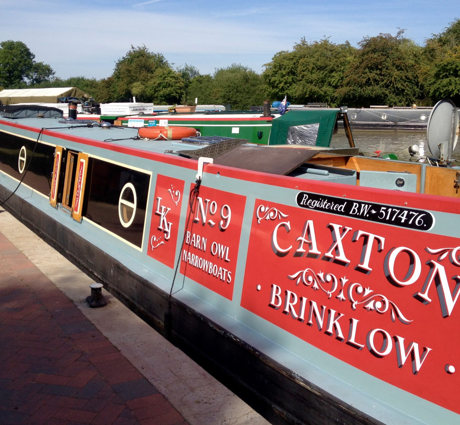 NB Caxton, Paul and Elaine's narrowboat, now with new owners. We spotted it on our journey on Wednesday at Calcutt locks