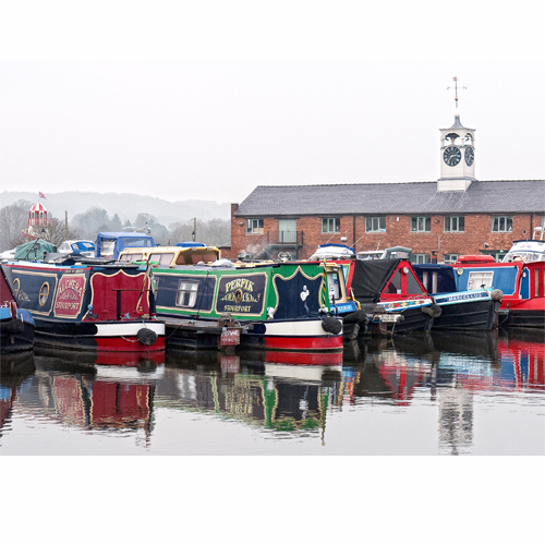 Stourport Basin on the Staffordshire & Worcester Canal