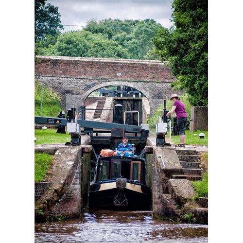Shropshire Union Canal – Audlem Lock Flight