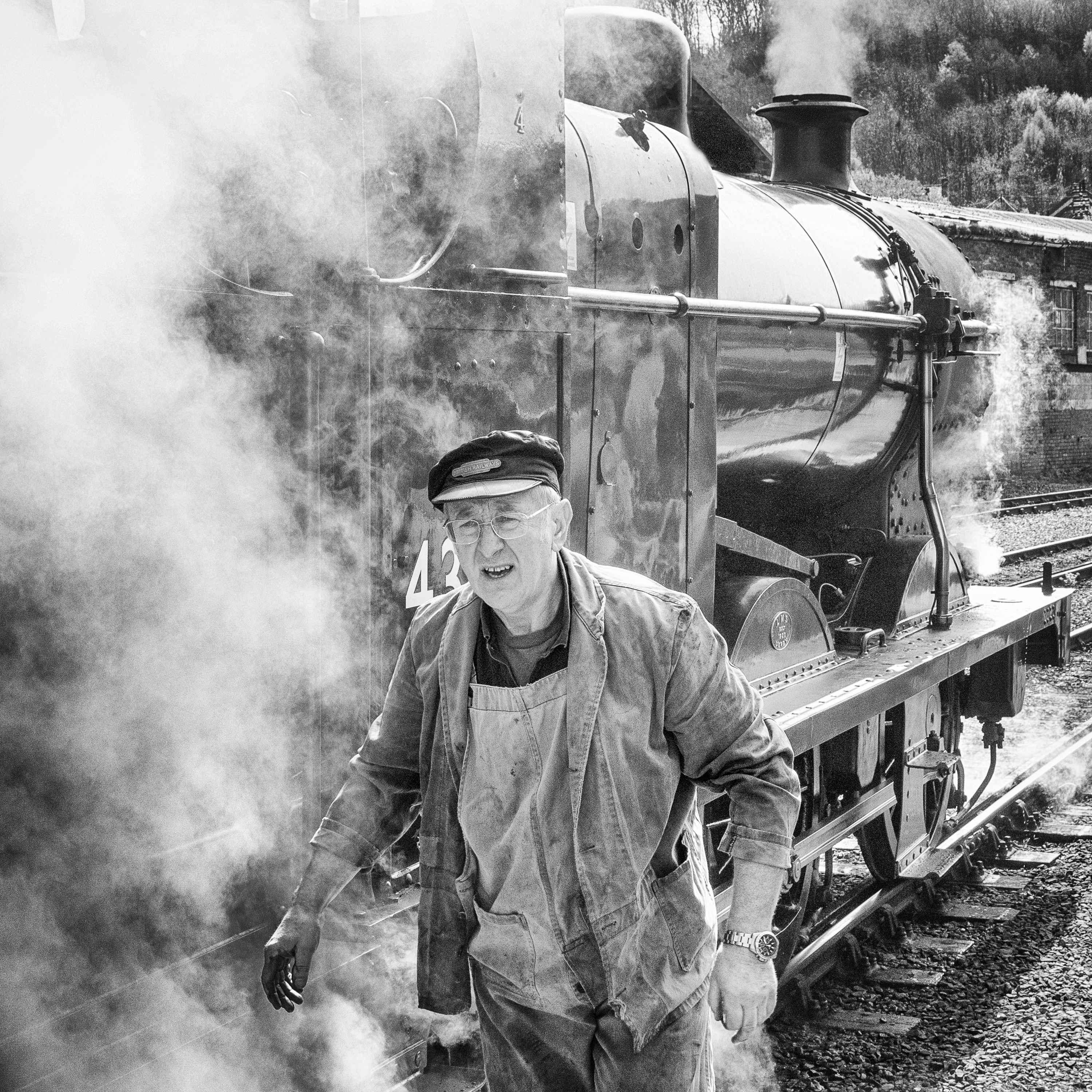 Keighley and Worth Valley Railway train driver by Barry Teutenberg