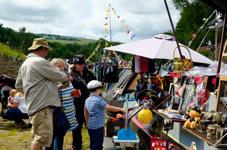 Bugsworth Basin Family Fun Day 2019 by Dave Cresswell of Canalside Art
