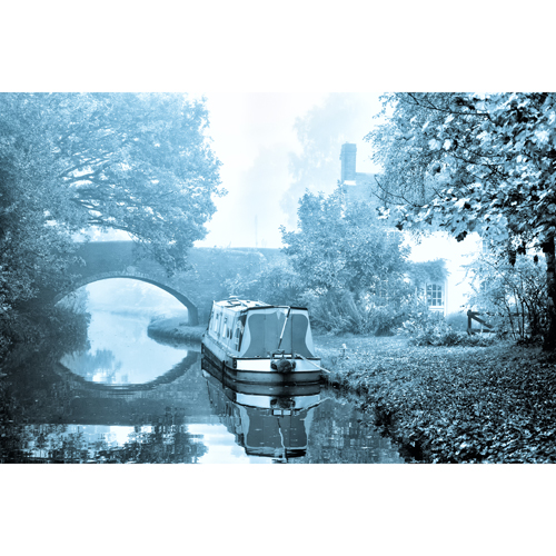 Canalside scene near Fradley on the Coventry Canal