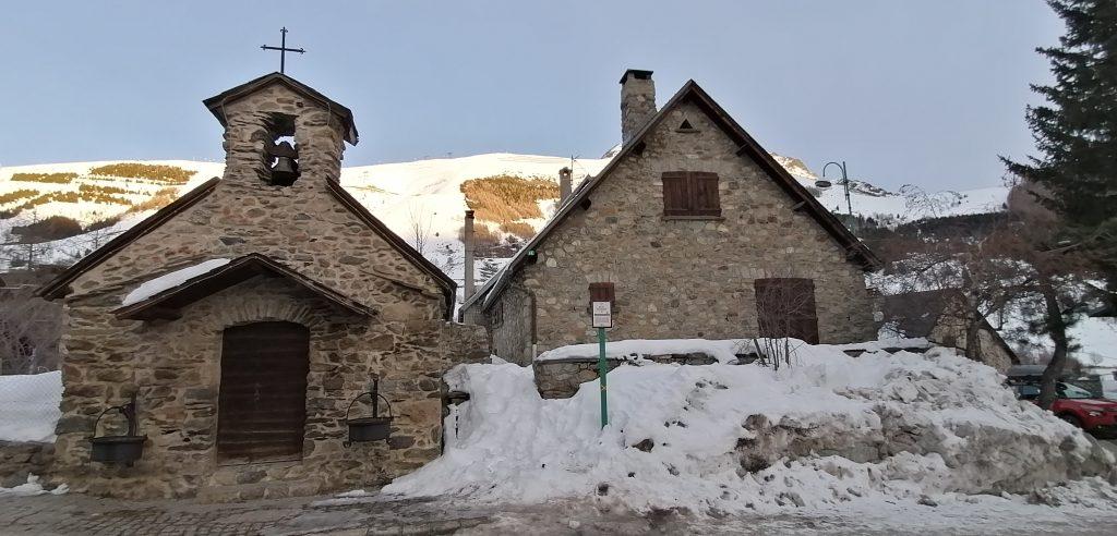 Les Deux Alpes original settlement church