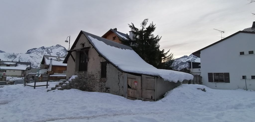 Les Deux Alpes original settlement house still standing January 2020