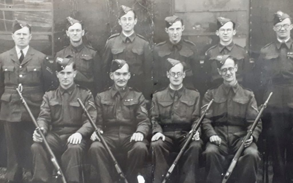 Donald Walsh in the Land Army