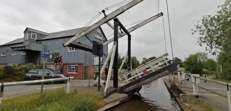 Wrenbury Lift Bridge June 2020