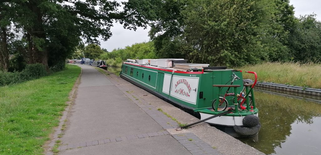 NB Areandare moored on the Ellesmere Arm