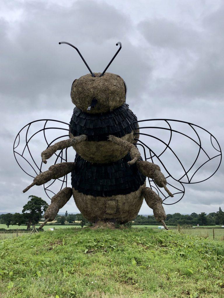 Snugbury's Bee sculpture July 2020
