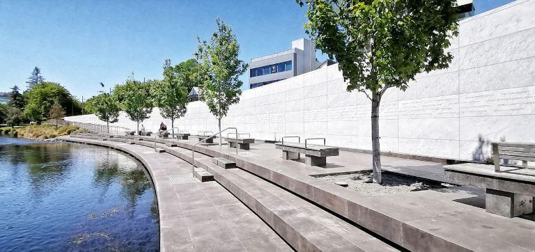 Christchurch earthquake memorial wall November 2020 by Barry Teutenberg