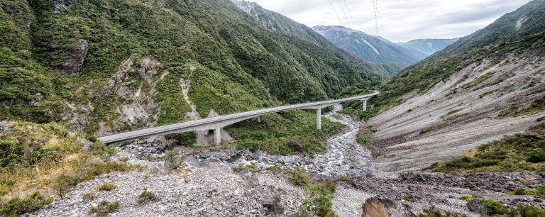 Arthur's Pass viaduct February 2021