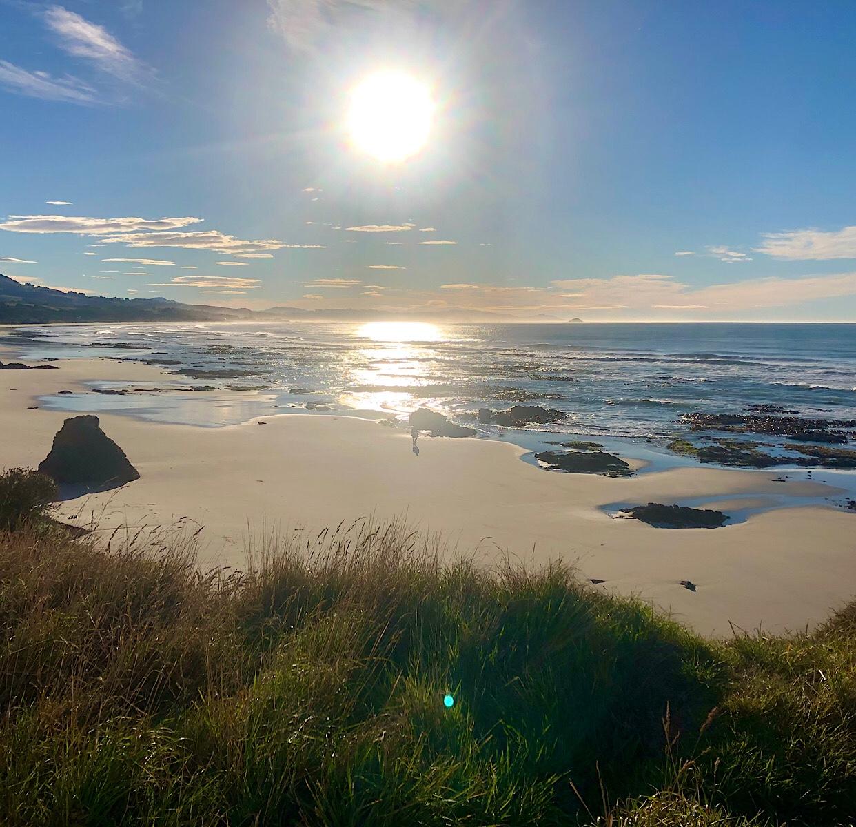 Brighton Beach Dunedin sunrise April 2021